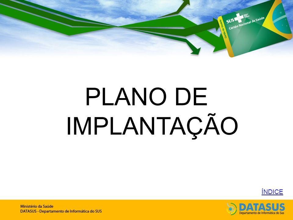 PLANO DE IMPLANTAÇÃO ÍNDICE