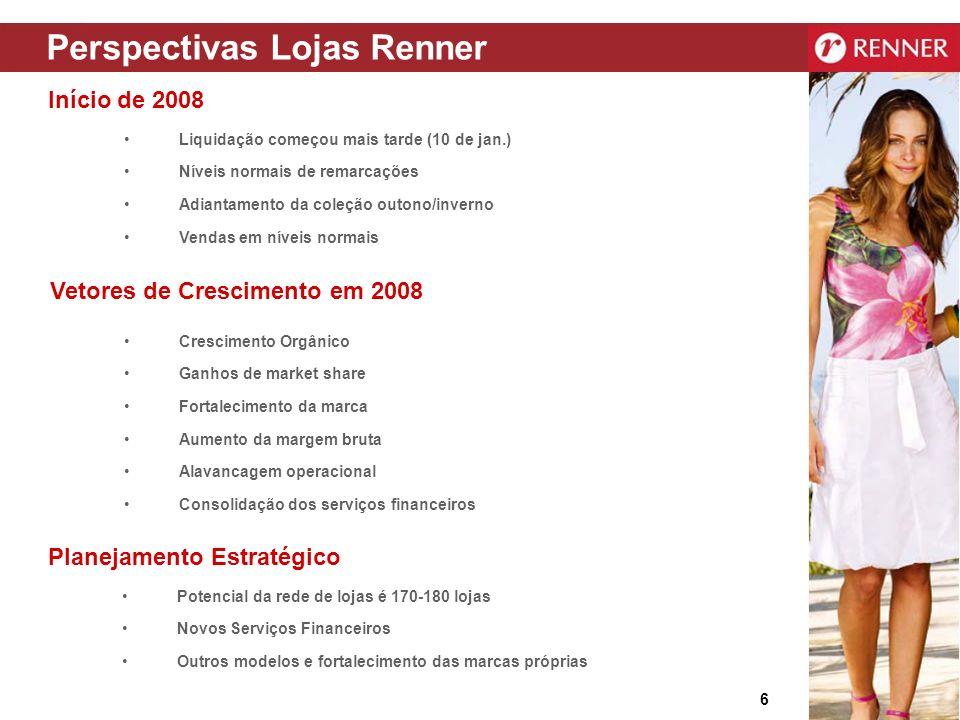 27 www.lojasrenner.com.br/ri Equipe de Relações com Investidores Tel.