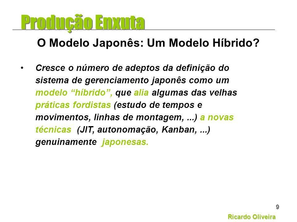 Ricardo Oliveira 9 Cresce o número de adeptos da definição do sistema de gerenciamento japonês como um modelo híbrido, que alia algumas das velhas prá