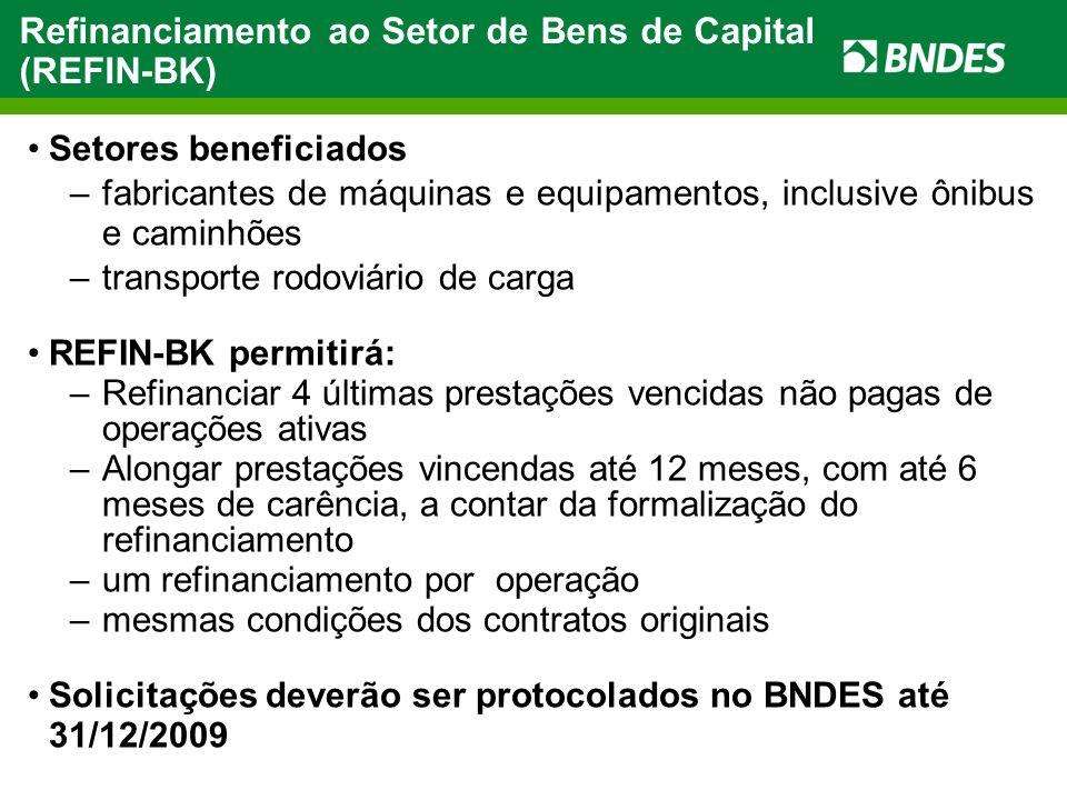 Condições: Beneficiárias: micro, pequenas e médias empresas Limite: até R$ 500 mil, por banco emissor (BB, CEF, Bradesco) Prestações fixas em até 48 meses Taxa de juros: 1,00 % a.m.