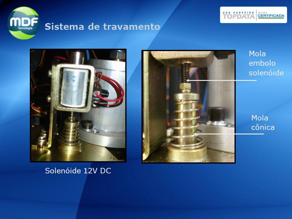 Solenóide 12V DC Mola cônica Mola embolo solenóide Sistema de travamento