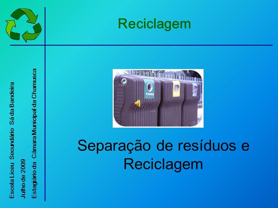 Garrafas de Plástico Sacos de plástico Embalagens de cartão para líquidos alimentares (tetrapak) EMBALÃO 1.O que se deve Depositar O Que Reciclar?