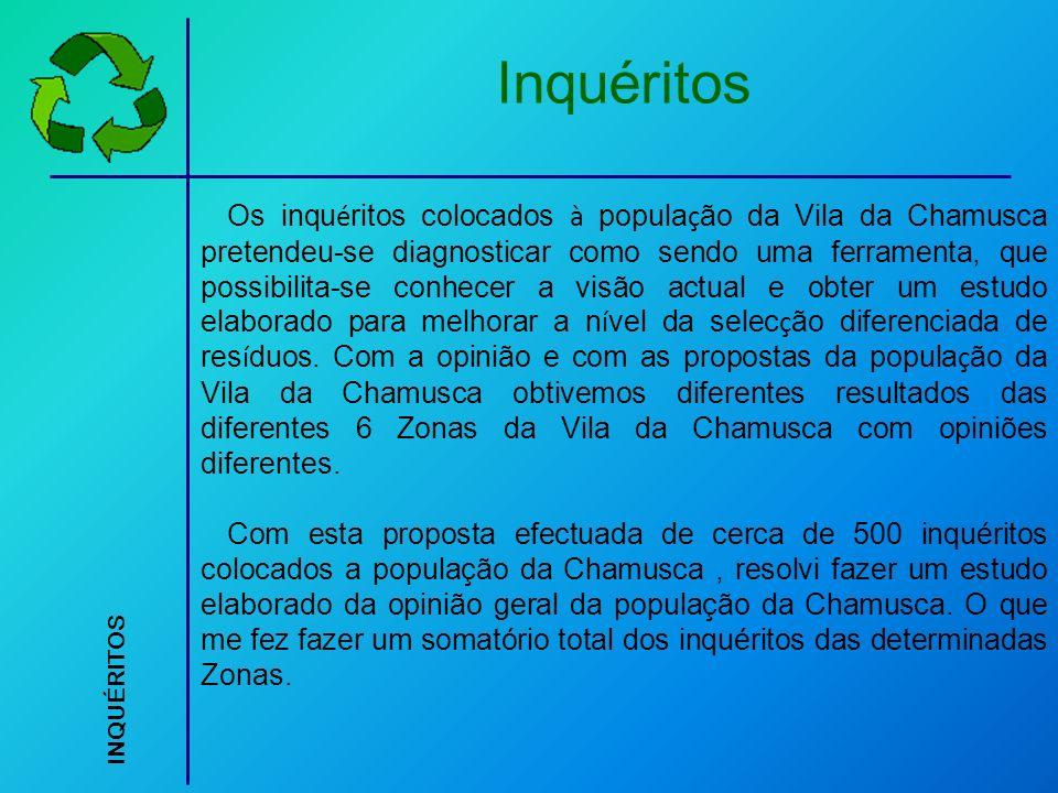 Os inqu é ritos colocados à popula ç ão da Vila da Chamusca pretendeu-se diagnosticar como sendo uma ferramenta, que possibilita-se conhecer a visão a