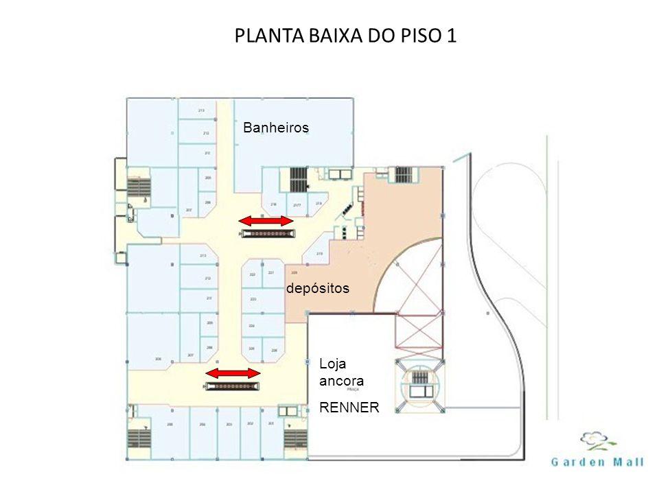 PLANTA BAIXA DO PISO 1 depósitos Banheiros Loja ancora RENNER