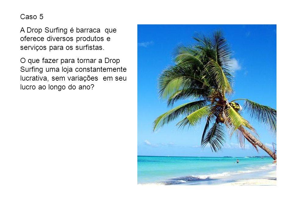Caso 5 A Drop Surfing é barraca que oferece diversos produtos e serviços para os surfistas. O que fazer para tornar a Drop Surfing uma loja constantem