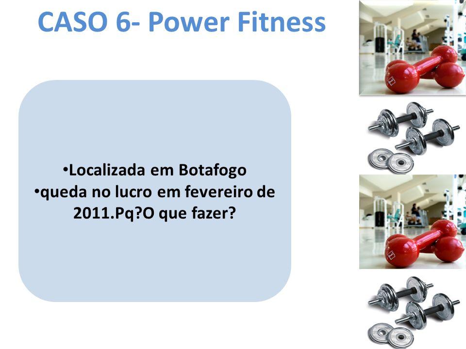 CASO 6- Power Fitness Localizada em Botafogo queda no lucro em fevereiro de 2011.Pq?O que fazer?