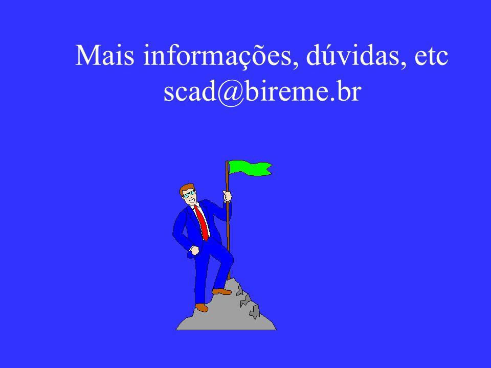 Mais informações, dúvidas, etc scad@bireme.br