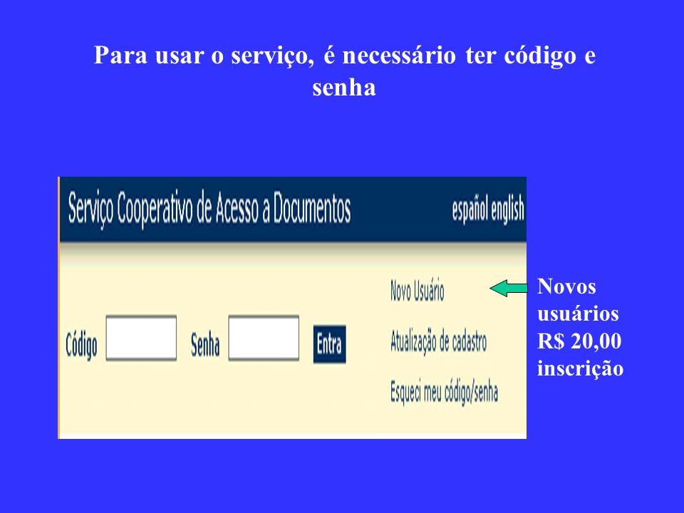 Opção 1: preencher um formulário de novo pedido