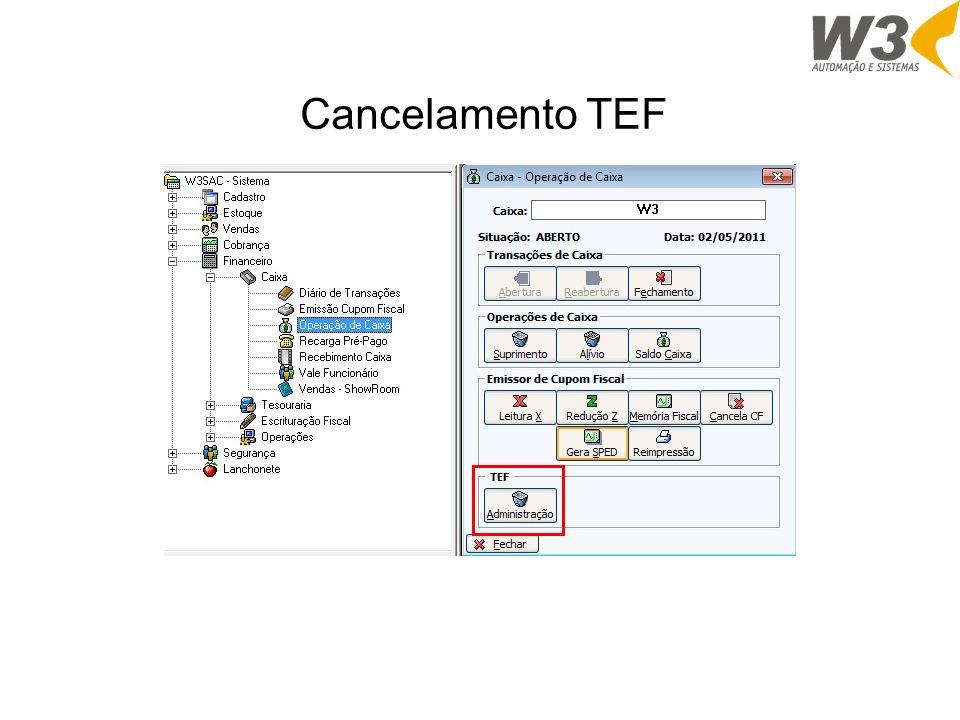 Cancelamento TEF