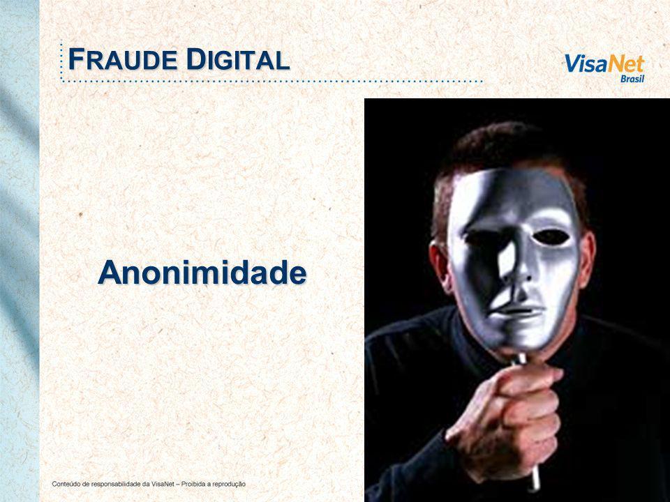 11 Anonimidade F RAUDE D IGITAL