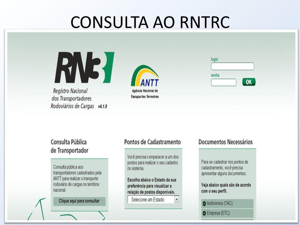 CONSULTA AO RNTRC