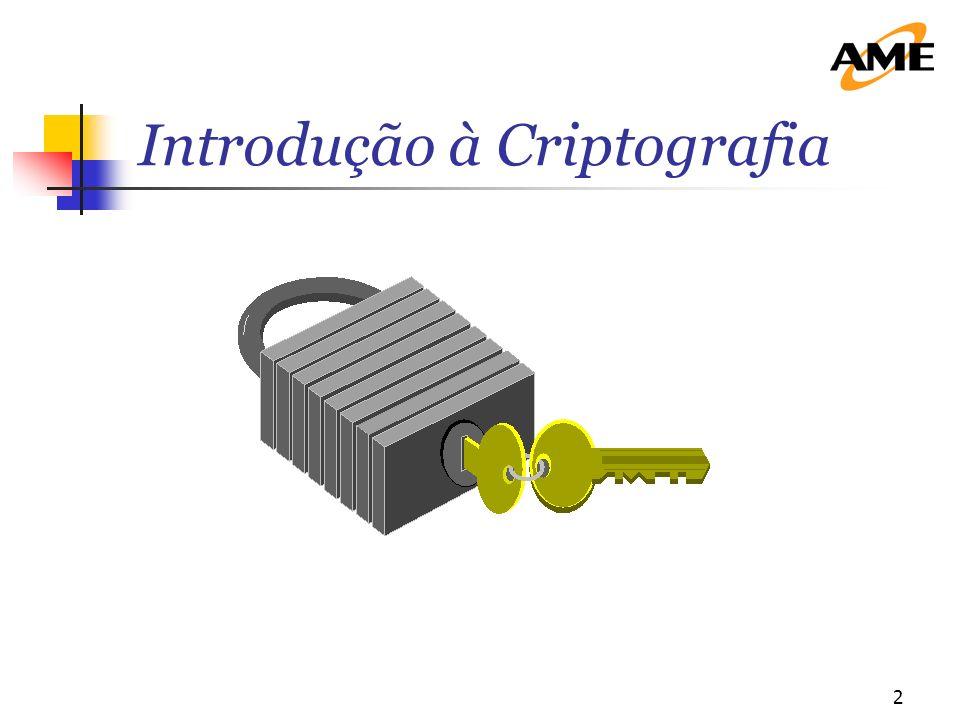 3 A criptografia foi historicamente reconhecida com o imperador Julius Ceasar.