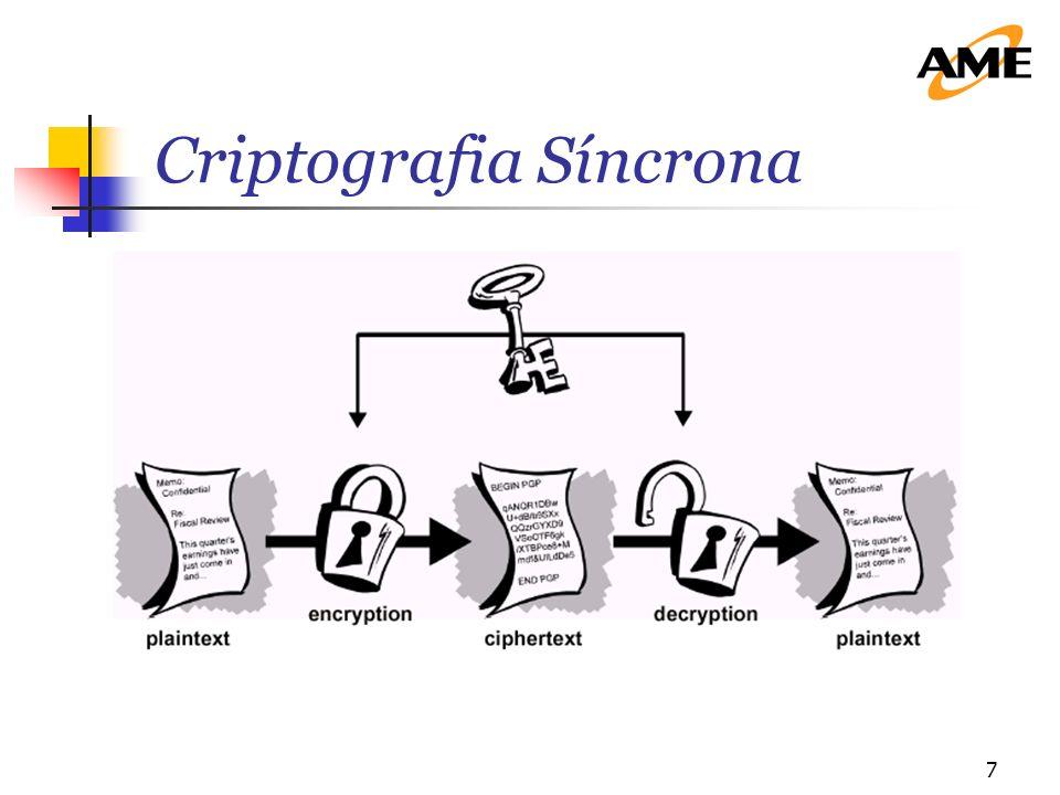 8 Este tipo de criptografia utiliza a mesma chave para codificar e decodificar.