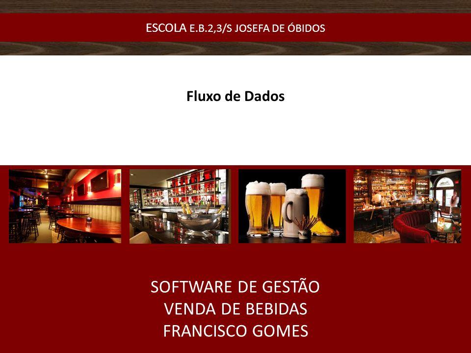 Fluxo de Dados SOFTWARE DE GESTÃO VENDA DE BEBIDAS FRANCISCO GOMES ESCOLA E.B.2,3/S JOSEFA DE ÓBIDOS