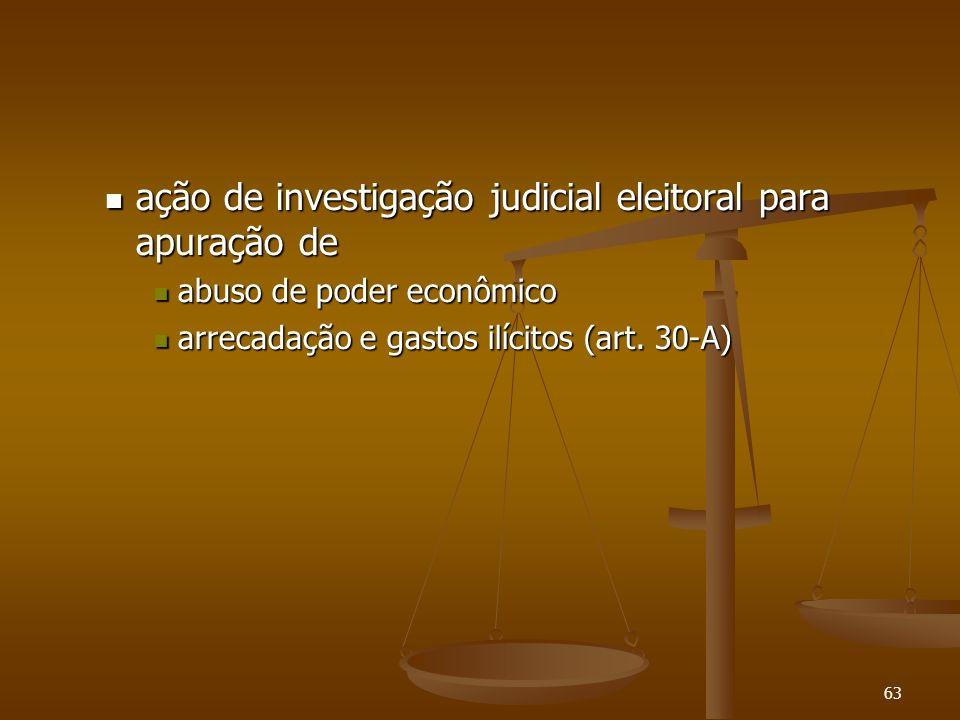 63 ação de investigação judicial eleitoral para apuração de ação de investigação judicial eleitoral para apuração de abuso de poder econômico abuso de