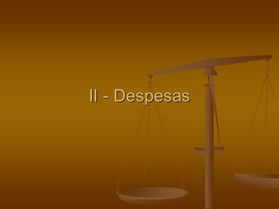 II - Despesas