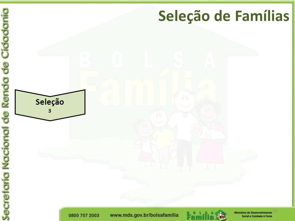 Seleção de Famílias 20 Seleção 3