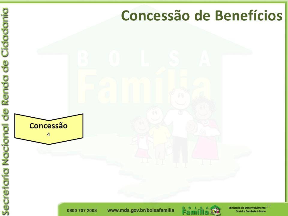 Concessão de Benefícios 27 Concessão 4