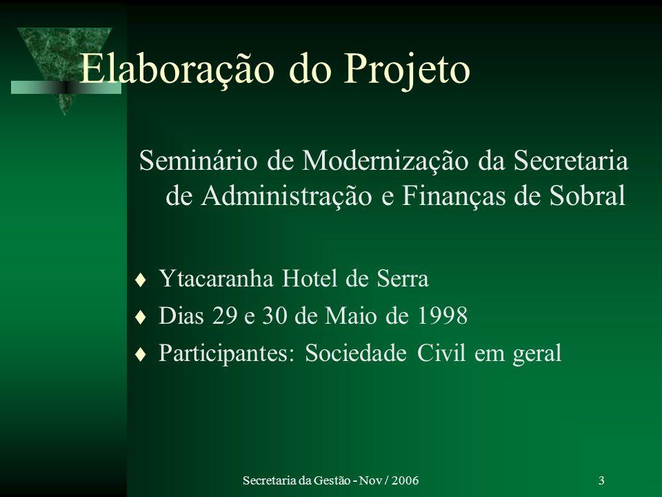 Secretaria da Gestão - Nov / 200624 ISS – on line – Agilidade no atendimento ao contribuinte – Aumento da receita tributária – Combate à sonegação de impostos – Facilidade e comodidade para o declarante Desenvolvimento de Sistemas