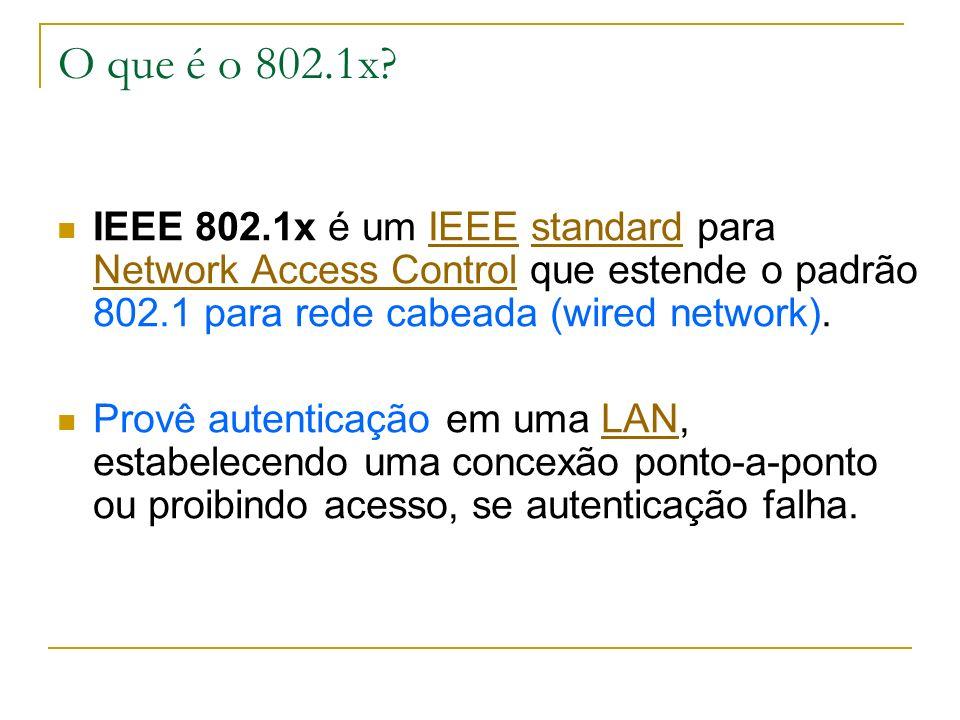O que é o 802.1x.