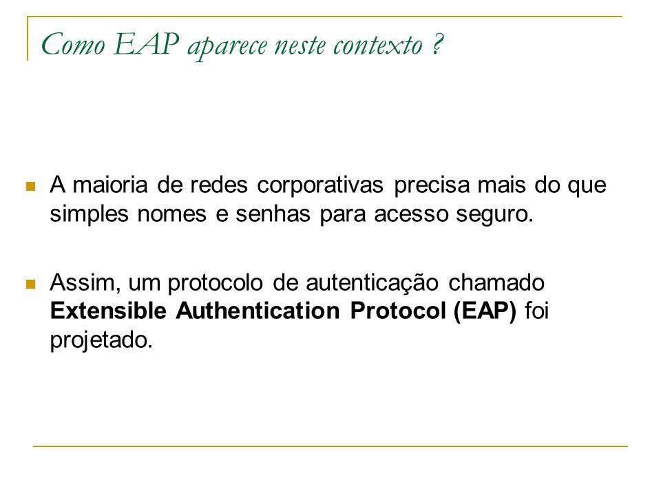 Como EAP aparece neste contexto .