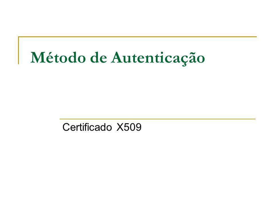 Método de Autenticação Certificado X509