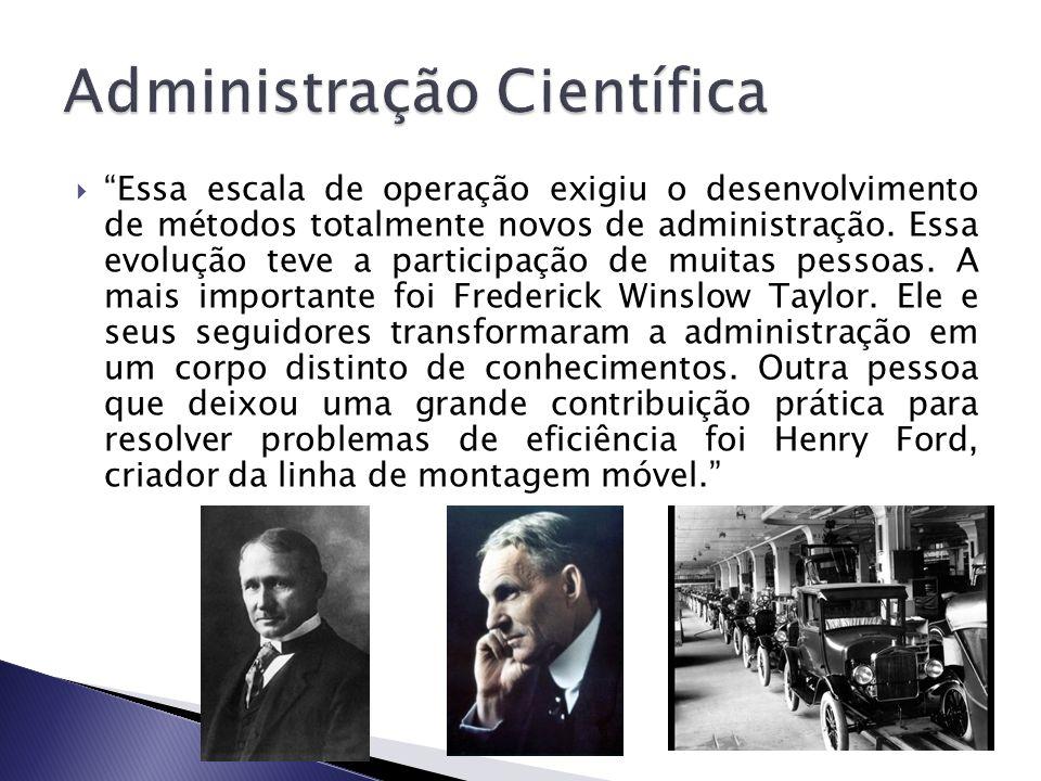 Buscava desenvolver princípios e técnicas de eficiência, que possibilitassem resolver os grandes problemas enfrentados pelas empresas industriais.