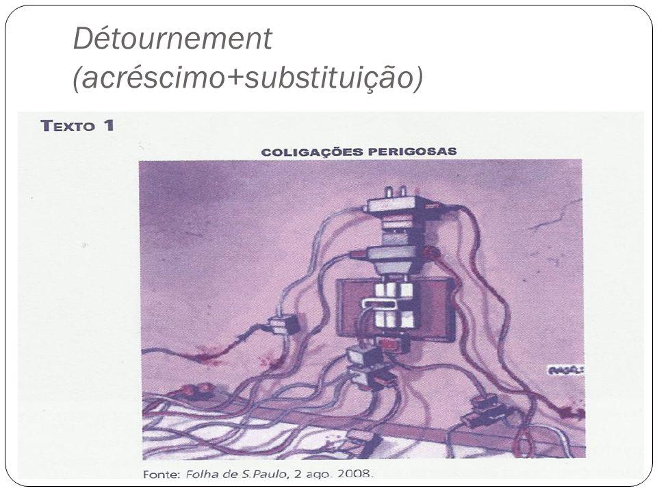 Détournement (acréscimo+substituição)