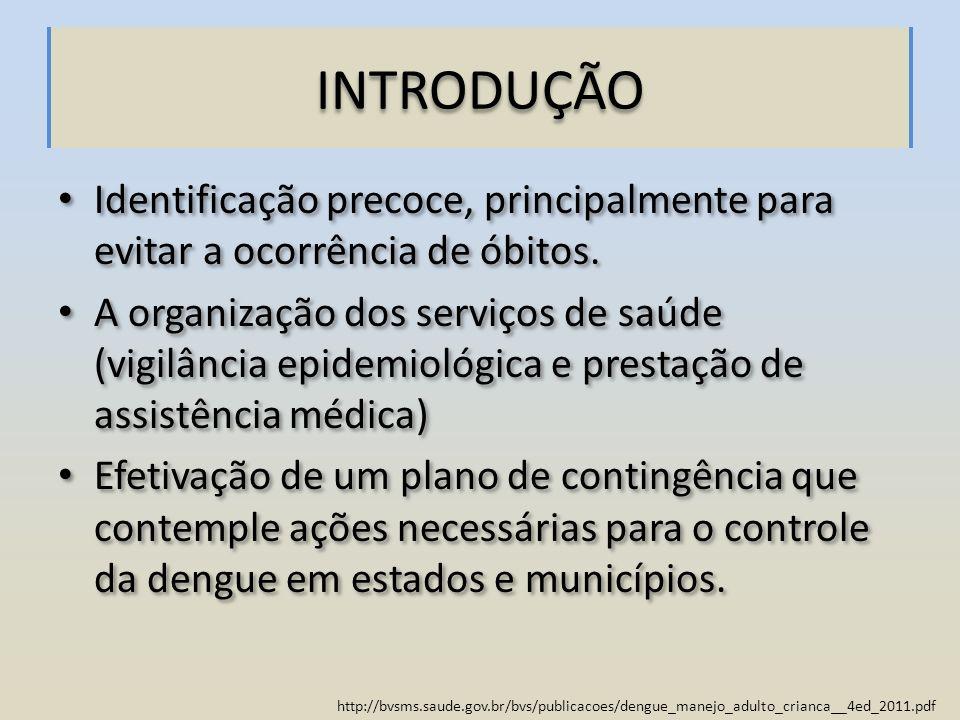 http://bvsms.saude.gov.br/bvs/publicacoes/dengue_manejo_adulto_crianca__4ed_2011.pdf PROTOCOLO DE ABORDAGEM CLÍNICO-EVOLUTIVA Reconhecimento de elementos clínico- laboratoriais que possam ser indicativos de gravidade, com sistematização da assistência Objetivo de orientar a conduta terapêutica adequada a cada situação e evitar o óbito.