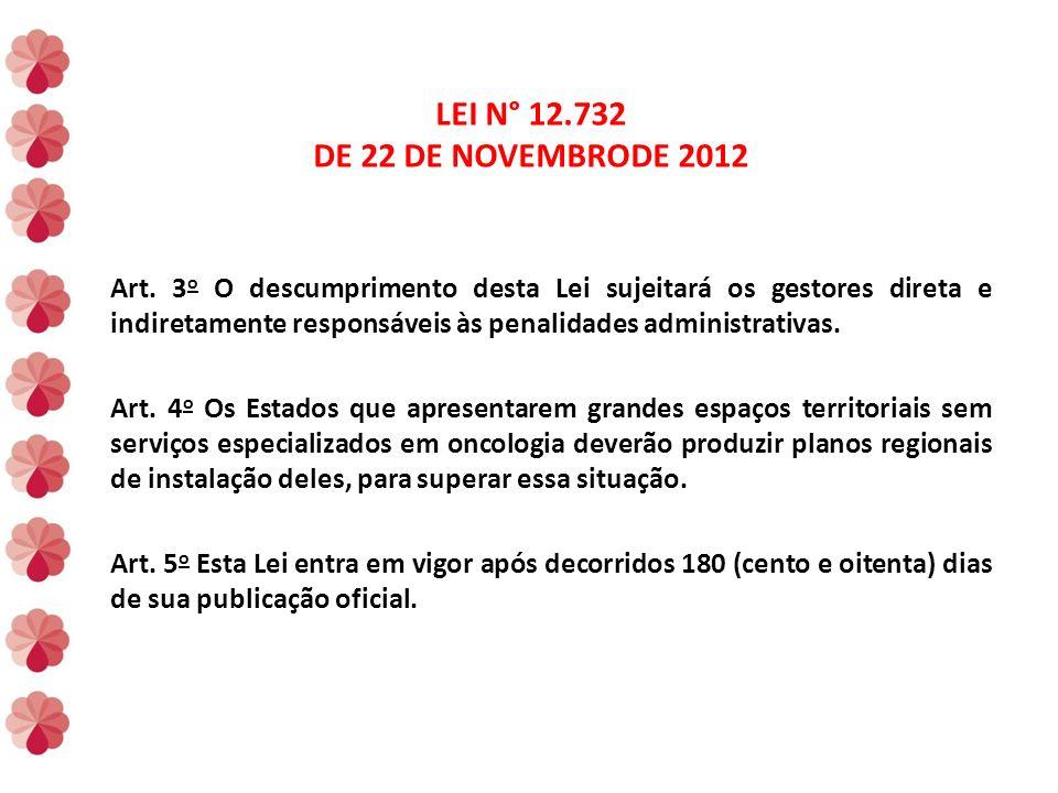 LEI N° 12.732 DE 22 DE NOVEMBRODE 2012 Art.