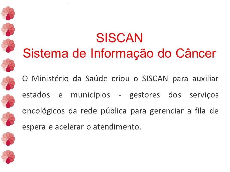 SISCAN Sistema de Informação do Câncer.