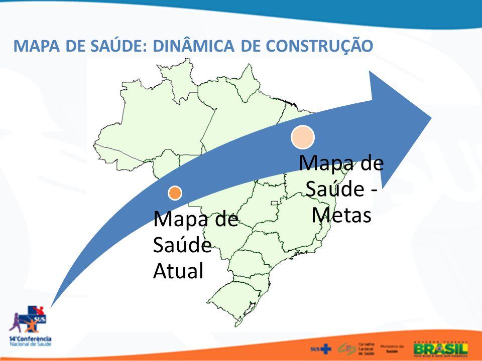 Mapa de Saúde Atual Mapa de Saúde - Metas MAPA DE SAÚDE: DINÂMICA DE CONSTRUÇÃO