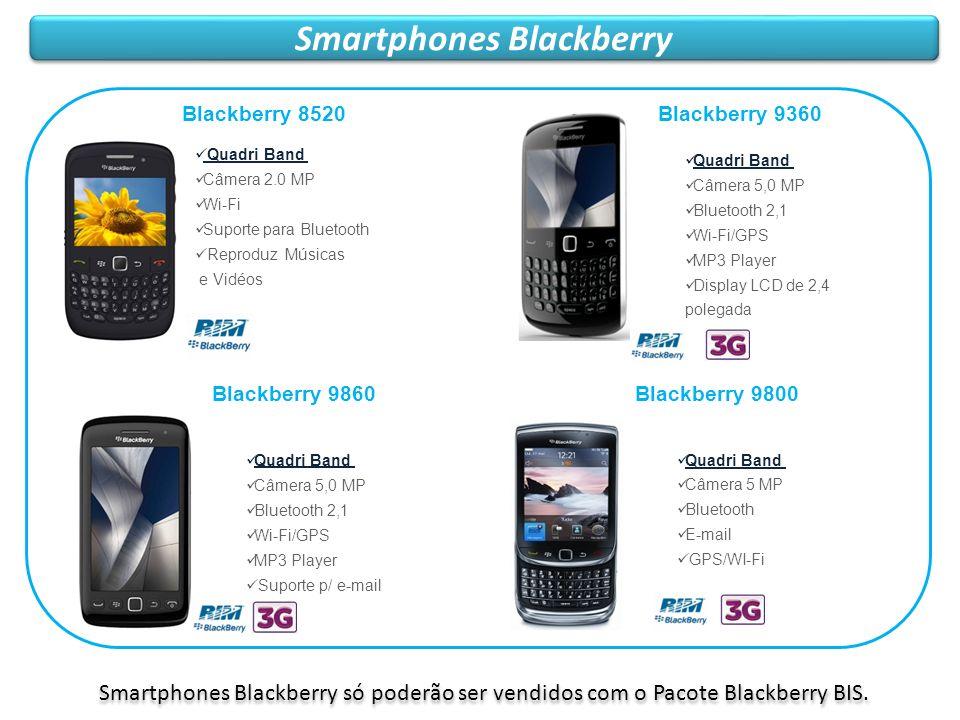 Smartphones Blackberry Blackberry 9860 Quadri Band Câmera 5,0 MP Bluetooth 2,1 Wi-Fi/GPS MP3 Player Suporte p/ e-mail Blackberry 8520 Quadri Band Câme