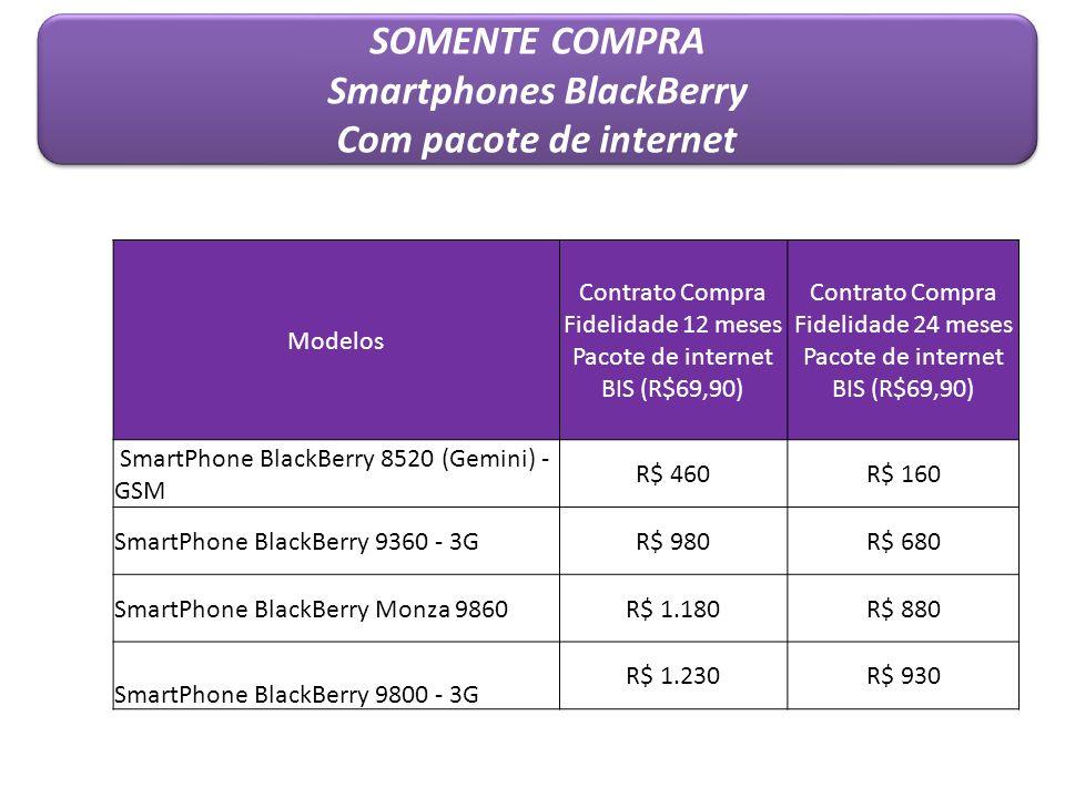 Modelos Contrato Compra Fidelidade 12 meses Pacote de internet BIS (R$69,90) Contrato Compra Fidelidade 24 meses Pacote de internet BIS (R$69,90) Smar