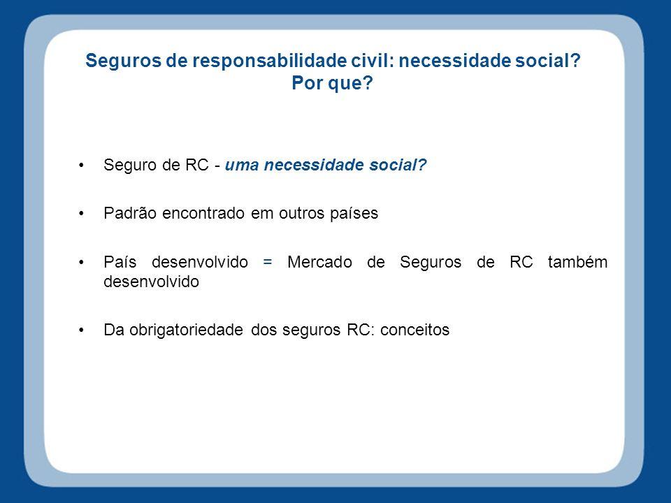 Seguros de responsabilidade civil: necessidade social.