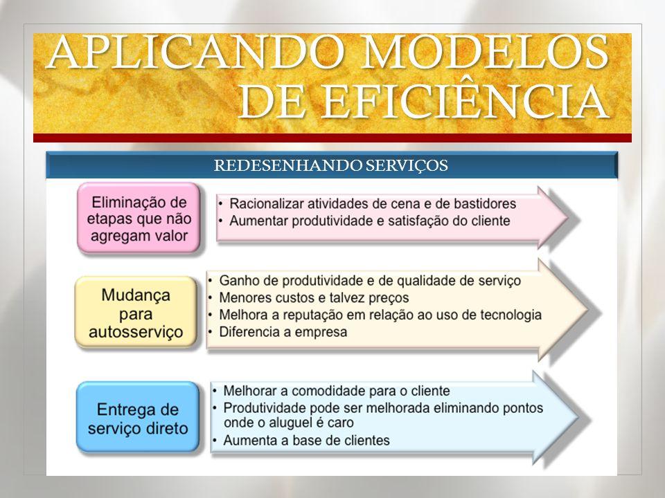 APLICANDO MODELOS DE EFICIÊNCIA REDESENHANDO SERVIÇOS