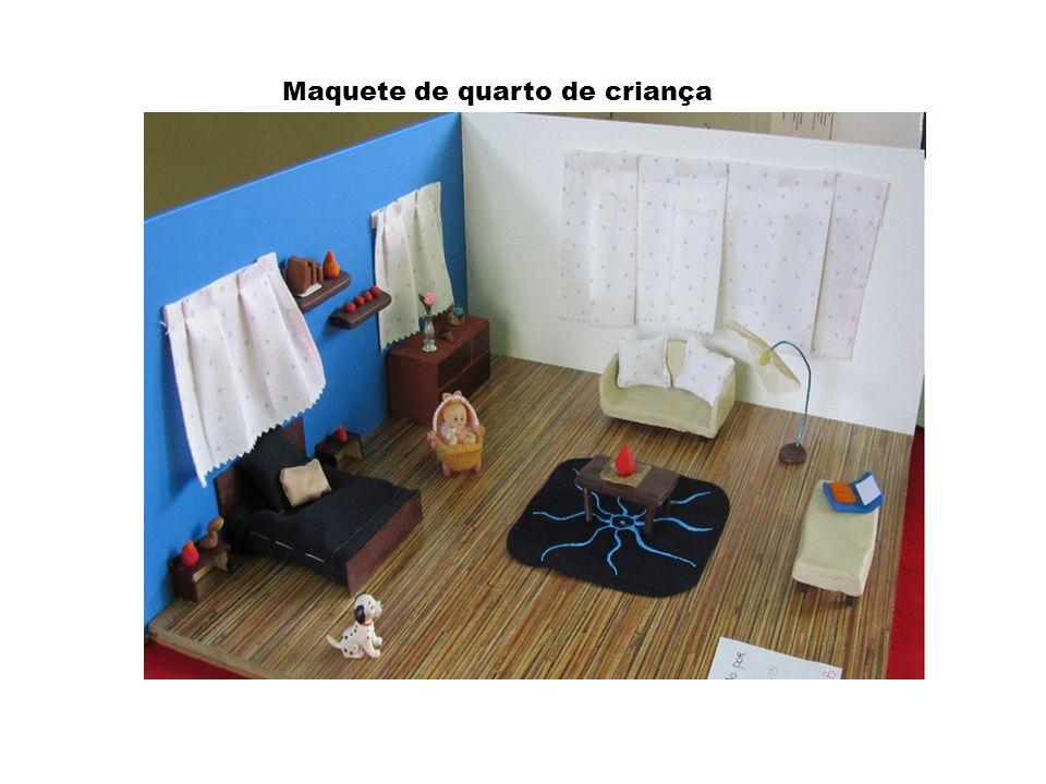 Maquete de um quarto de adolescente