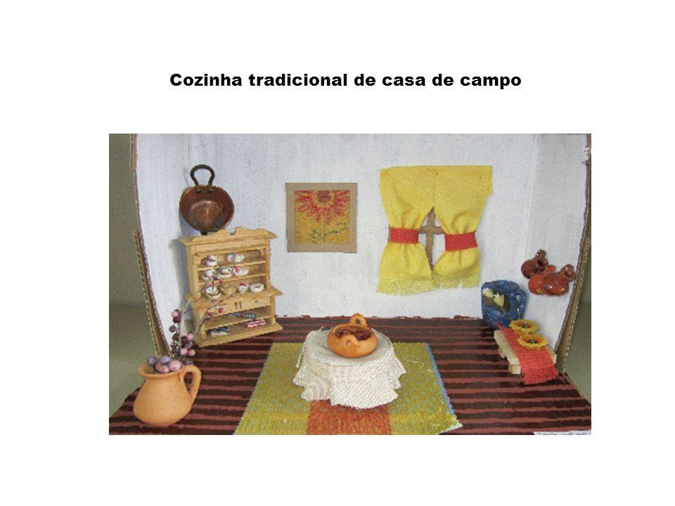 Cozinha tradicional de casa de campo