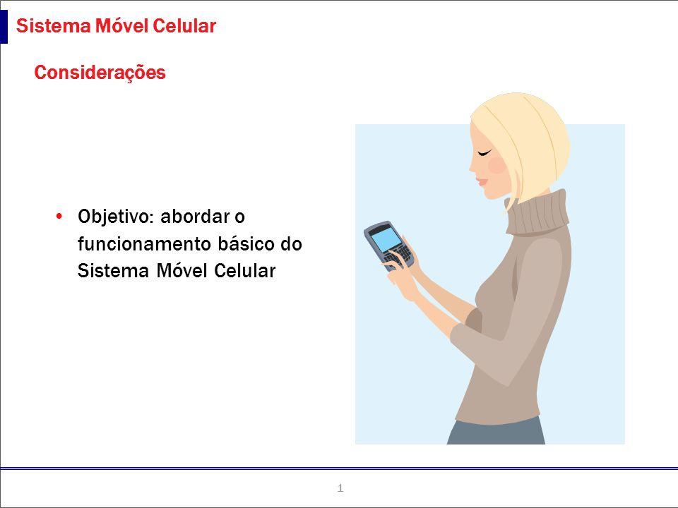 1 TLCne-051027-P1 Sistema Móvel Celular Considerações Objetivo: abordar o funcionamento básico do Sistema Móvel Celular