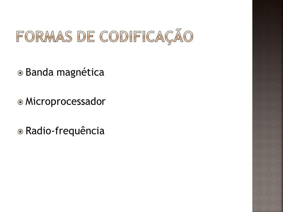 Banda magnética Microprocessador Radio-frequência