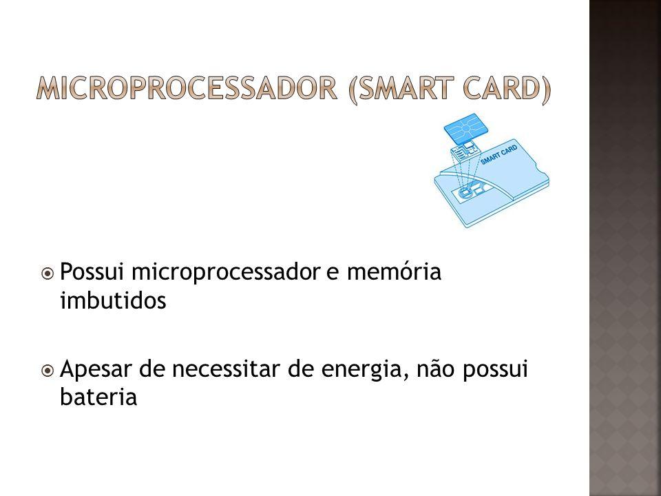 Possui microprocessador e memória imbutidos Apesar de necessitar de energia, não possui bateria