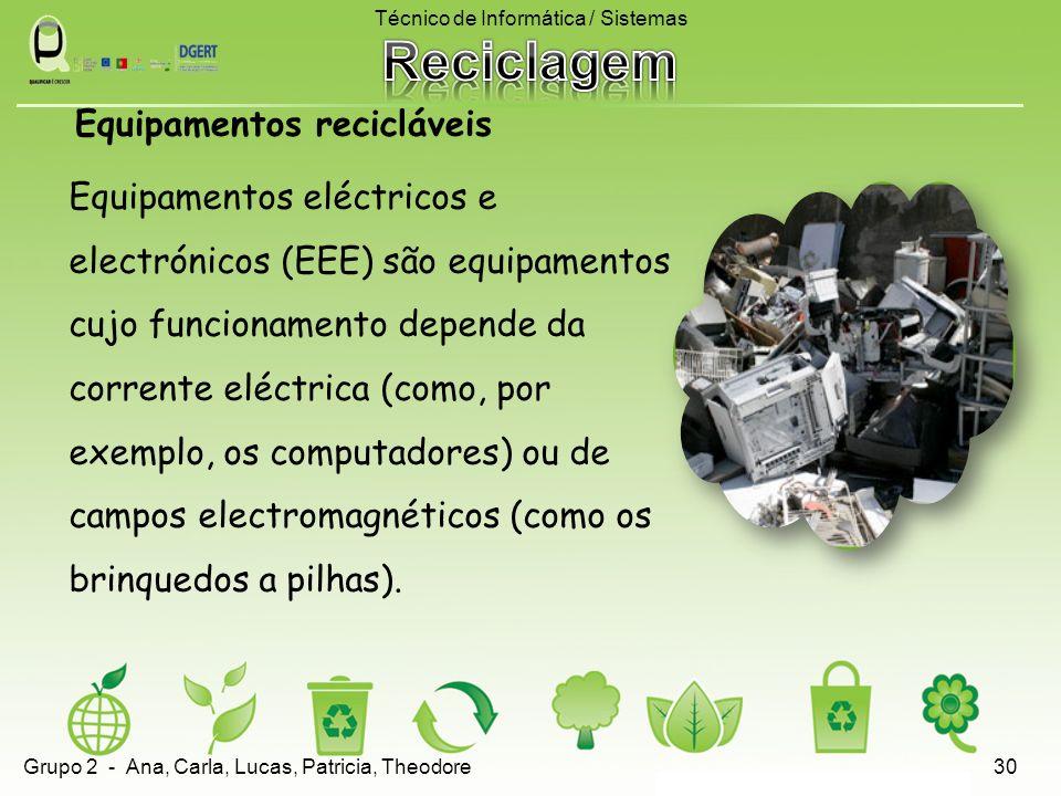 Equipamentos eléctricos e electrónicos (EEE) são equipamentos cujo funcionamento depende da corrente eléctrica (como, por exemplo, os computadores) ou de campos electromagnéticos (como os brinquedos a pilhas).