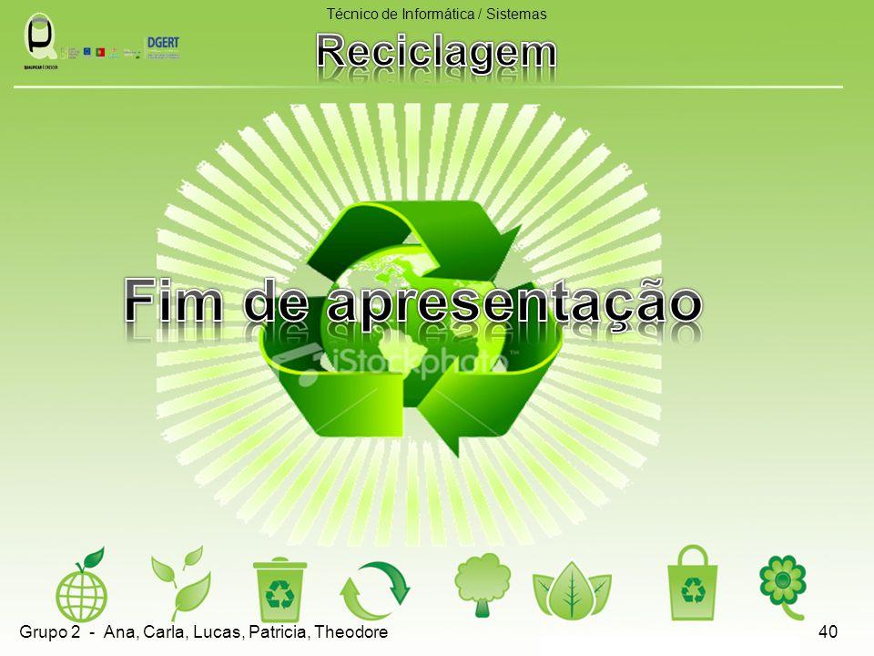 Técnico de Informática / Sistemas 40Grupo 2 - Ana, Carla, Lucas, Patricia, Theodore