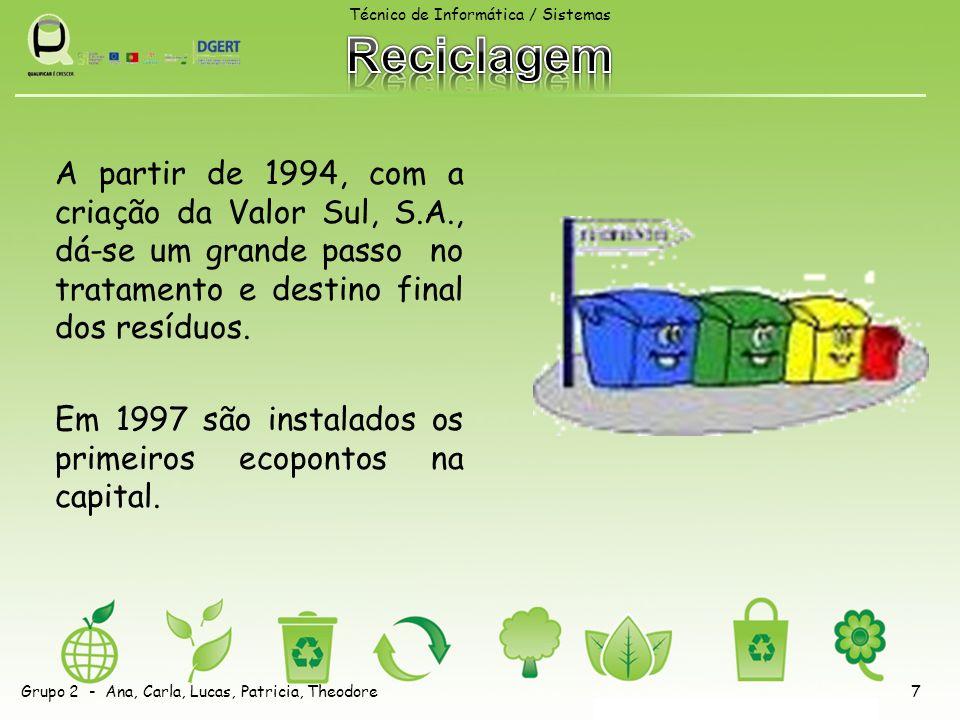 A partir de 1994, com a criação da Valor Sul, S.A., dá-se um grande passo no tratamento e destino final dos resíduos.