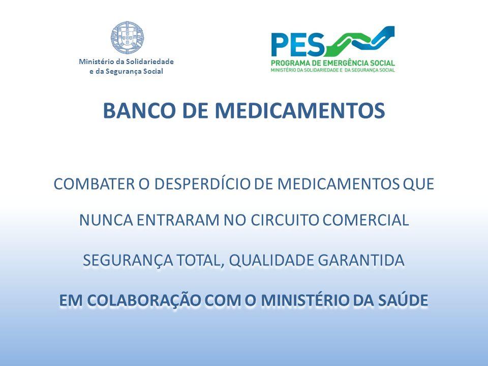 Ministério da Solidariedade e da Segurança Social COMBATER O DESPERDÍCIO DE MEDICAMENTOS QUE NUNCA ENTRARAM NO CIRCUITO COMERCIAL SEGURANÇA TOTAL, QUA