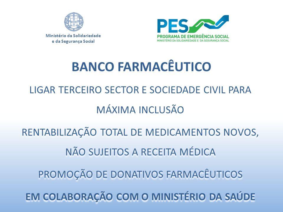 Ministério da Solidariedade e da Segurança Social LIGAR TERCEIRO SECTOR E SOCIEDADE CIVIL PARA MÁXIMA INCLUSÃO RENTABILIZAÇÃO TOTAL DE MEDICAMENTOS NO