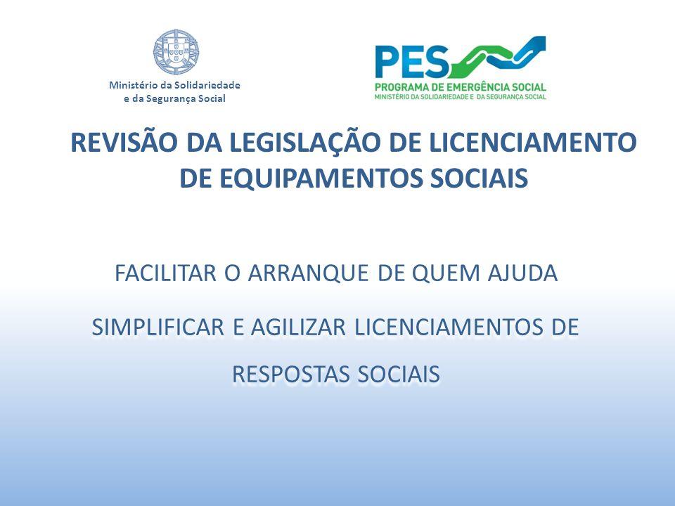 Ministério da Solidariedade e da Segurança Social FACILITAR O ARRANQUE DE QUEM AJUDA SIMPLIFICAR E AGILIZAR LICENCIAMENTOS DE RESPOSTAS SOCIAIS FACILI