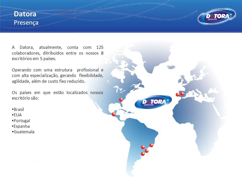 A Datora, atualmente, conta com 125 colaboradores, ditribuidos entre os nossos 8 escritórios em 5 países. Operando com uma estrutura profissional e co