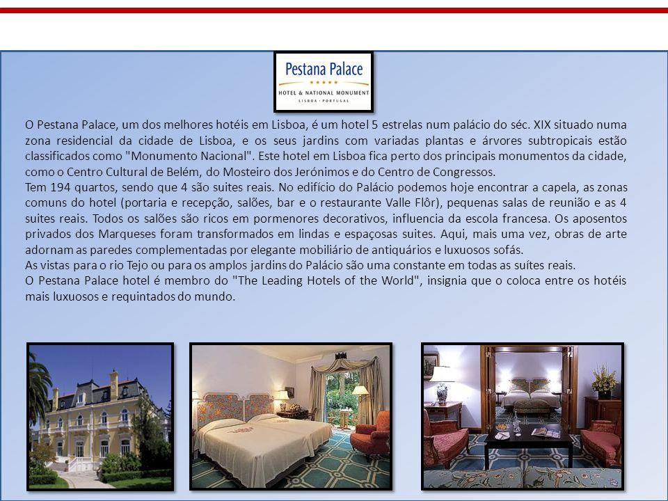 O Pestana Palace, um dos melhores hotéis em Lisboa, é um hotel 5 estrelas num palácio do séc. XIX situado numa zona residencial da cidade de Lisboa, e