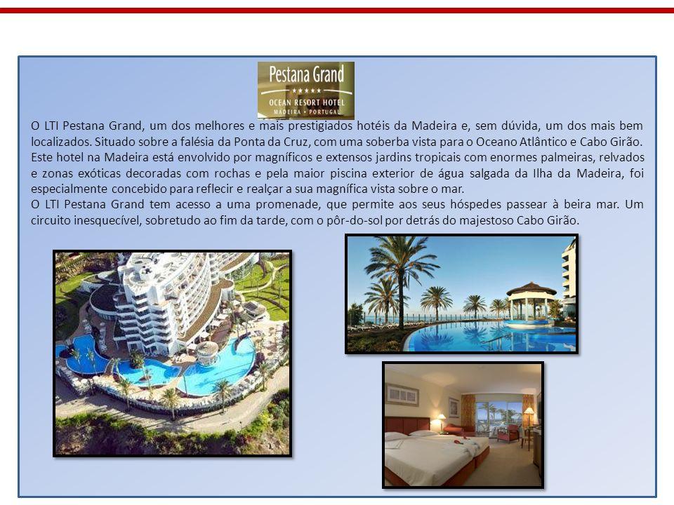 O LTI Pestana Grand, um dos melhores e mais prestigiados hotéis da Madeira e, sem dúvida, um dos mais bem localizados. Situado sobre a falésia da Pont